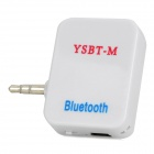 Universal Mini Rechargeable Wireless Bluetooth V3.0 + EDR Audio Music Receiver - White