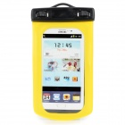 Outdoor Protective Plastic Case + Shoulder Strap + Earphone Set for Samsung i9500 - Black + Yellow