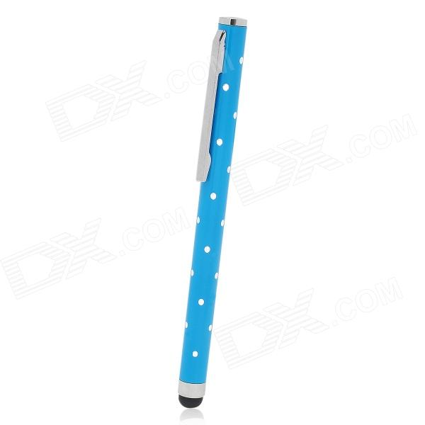 Rhinestone Ballpoint Pen Style Capacitive Screen Stylus Pen w/ Clip for Iphone / Ipad - Blue