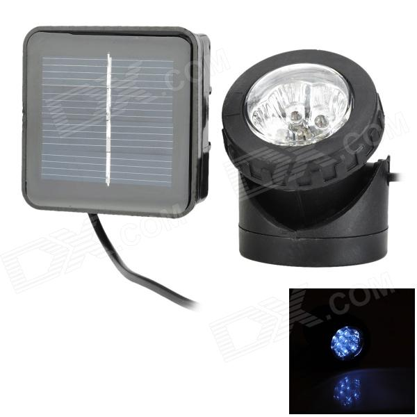Rechargeable 800lm 6500K Solar Powered 6 x LED Underwater Spotlight - Black от DX.com INT