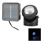 Rechargeable 800lm 6500K Solar Powered 6 x LED Underwater Spotlight - Black