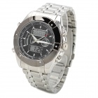 Fashion Men's Stainless Steel Analog + Digital Quartz Wrist Watch - Silver + Black (1 x 377 / 2035)