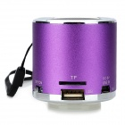 Z-12 Mini Music Speaker w/ FM Radio - Purple + Silver