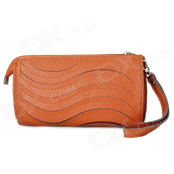 Wave Pattern Fashion Women's Clutch Handbag / One-Shoulder Bag - Brown