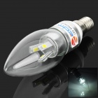 ZDM E14 3W 180lm 7000K 6-5630 SMD LED White Light Candle Lamp - Silver (AC 85~265V)