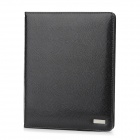 Seenda Snakeskin Pattern Protective PU Leather Flip-Open Smart Case for The New Ipad - Black
