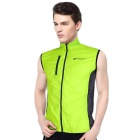 NUCKILY V10 Men's Water-resisting Air-permeable Sleeveless Cyling Vest - Green + Black (Size M)