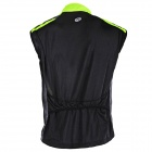 NUCKILY V10 masculino Water-resistencia con aire permeable Cyling chaleco sin mangas - Verde + Negro (Talla M)