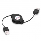 Retractable USB 2.0 Male to Female Cable for PC / Laptop - Black