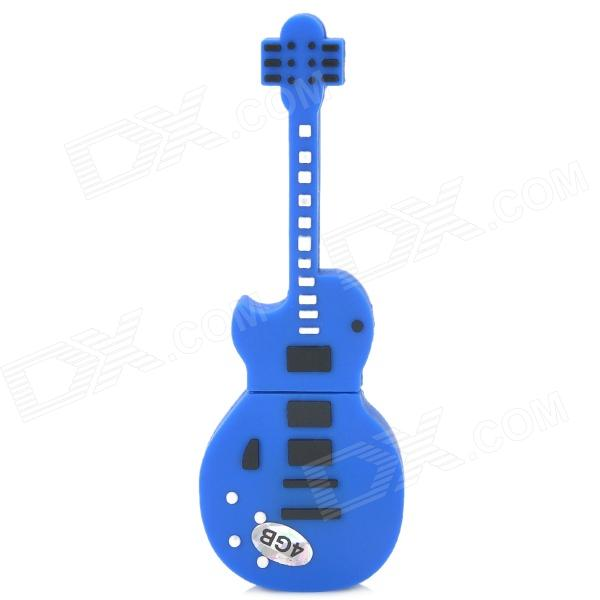 Guitar Shaped USB 2.0 Flash Drive Disk - Deep Blue (4GB) hot factory direct wholesale db9 d sub vga male plug 9pin port terminal breakout pcb rs232 485 2 row screw