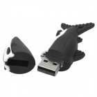 Shark Shaped USB 2.0 disque disque flash - noir + blanc (4 Go)