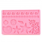 Marine Animals Shaped DIY Cookie Pastry Cake Mold - Pink