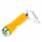 L-05Z 5mW 650nm 1-LED Red Laser + 5-LED White Flashlight Keychain - Yellow + Silver (3 x LR44)