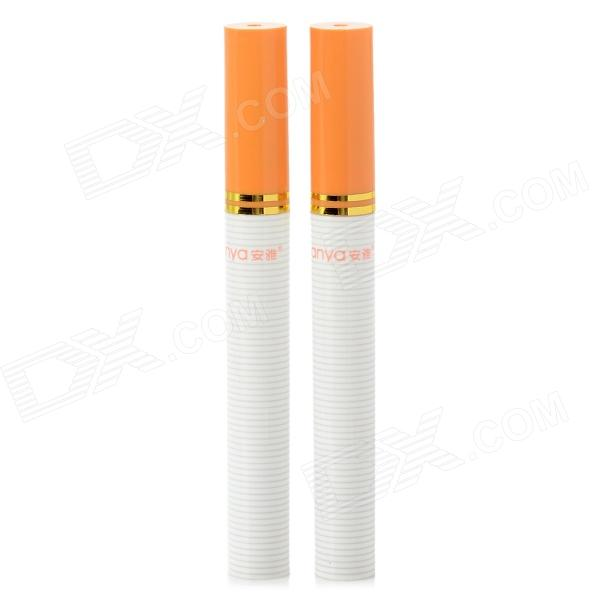 Cigarette Shape Toothpick Holder - White + Yellow (2 PCS) wine cask shape automatic plastic toothpick holder black