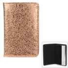 PU-Leder Tasche Stainless Steel Business Card Case - Champagne