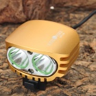 NITEFIRE NFC-28 2-Cree XM-L U2 1200lm 4-Mode Cool White Bicycle Light - Golden Yellow (4 x 18650)
