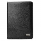 Seenda Snake Skin Pattern Protective Split Leather Case w/ Stand for iPad Mini - Black