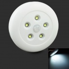 0,5 W 50lm 6500K 5-LED Weiß LED Motion Sensor Light - Weiß (3 x AAA)