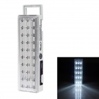 RL RL-5305 3W 360lm 6500k 30-LEDs 1300mAh White Light Lamp - White + Silver (EU Plug)