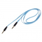 Flat 3.5mm Male to Male Audio Connection Cable - Blue + White (90cm)