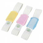 Baby Diaper Fixing Elastic Bands - White + Blue + Yellow + Pink (3 pcs)