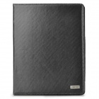 Seenda Protective Split Leather Case w/ Stand for Ipad 2 / 3 - Black