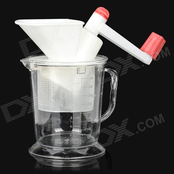 SD6888 Manual Meat Grinder Jucier - White + Red + Transparent multifunctional household small electric meat grinder