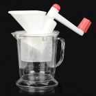 SD6888 Manual Meat Grinder Jucier - White + Red + Transparent
