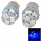 115650-8B 1156 1.3W 120lm 8 LED 5050 SMD Blue Light Car Signal Lamp - Silver + White