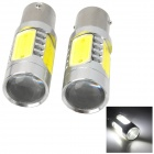1156-TJ115W 1156 11W 700lm 5 LED White Light Car Signal Lamp - Silver + Yellow