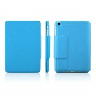 ENKAY ENK-3334 Microgroove Protective PU Leather Case for Ipad MINI - Blue