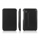 ENKAY ENK-7023 Protective PU Leather Case Cover w / Stand for Samsung Galaxy P3100 / P3110 - Black