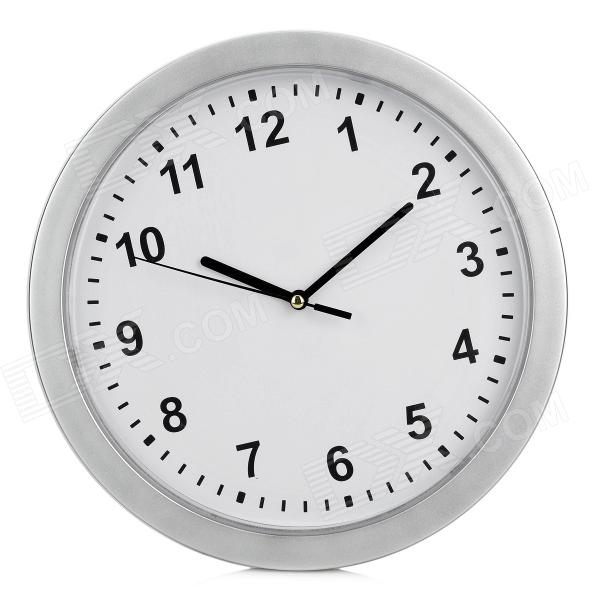 Wall Clock w/ Hidden Space for Valuables - Silver + White + Black