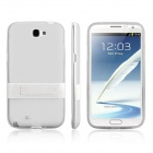 ENKAY Protective PC + Soft TPU Back Case Cover w/ Stand for Samsung Galaxy Note2 / N7100  - White