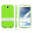 ENKAY Protective PC + Soft TPU Back Case Cover w/ Stand for Samsung Galaxy Note2 / N7100  - Green