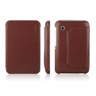 ENKAY ENK-7023 Protective PU Leather Case Cover w / Stand for Samsung Galaxy P3100 / P3110 - Brown