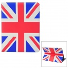 Protective UK National Flag Pattern PU Leather Case for Ipad 2 - Blue + Red + White