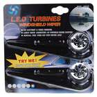 Wind Powered Sensor Blue Light 3-LED Windshield Wiper Lights (Pair)
