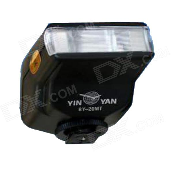 YinYan BY-20 Universal Camera Flash Speedlite - Black (4 x AA)