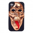 3D Skeleton Protective Plastic Back Case for Iphone 4/  4S - Coppery+ Black+ Red