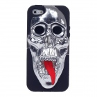 3D Skeleton Protective Silicone Back Case for iPhone 5 - Gray + Black + Red
