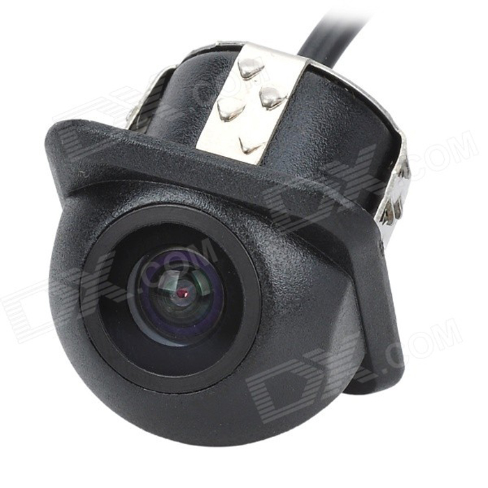 18.5mm 1/4 CMOS Waterproof Night Vision Car Rearview Camera - BlackRearview Mirrors and Cameras<br>ModelUniversalQuantity1MaterialPlasticForm  ColorBlackCompatible MakeAudi,Universal,OthersMenu LanguageEnglishSignal SystemPAL,NTSCBluetooth VersionNo,OthersCamera TypeWiredVideo SystemPAL,NTSC,OthersImage SensorOthersViewing Angle90IR Night VisionNoLED QtyNoneNight Vision Distance5Resolution420Distance Ruler LineNoMinimum Illumination0.5Water-proofYesPower SupplyDCPacking List1 x Camera (50cm cable)1 x Audio cable (580cm)1 x Power line (90cm)1 x 18.5mm Drills1 x Chinese &amp; English user manual<br>