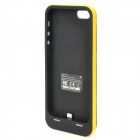 2500mAh Rechargeable External Power Battery Case for iPhone 5 - Yellow + Black