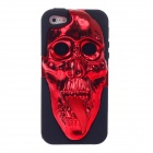 3D Skeleton Protective Plastic Back Case for iPhone 5 - Red + Black