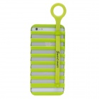 Fashion Hollowed-Out Ladder Style PC Case With Holder For Iphone 5 - Green