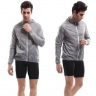 VEOBIKE Polyester Super Slim Outdoor Wind Coat - Grey (Size-XL)