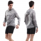 VEOBIKE Polyester Super Slim Outdoor Wind Coat - Grey (Size-L)