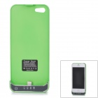 2200mAh Rechargeable Li-ion Polymer Battery Back Case Holder for iPhone 5 - Green