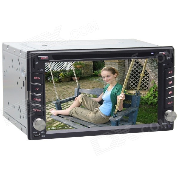 Joyous J-2612MX 6.2 Car DVD Player w/ Wi-Fi, GPS Navigation, ISDB-T, IPOD, Bluetooth, AUX, RDS автомобильный dvd плеер joyous kd 7 800 480 2 din 4 4 gps navi toyota rav4 4 4 dvd dual core rds wifi 3g