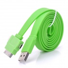 U-218 1-to-3 Male USB to Apple 30pin + Lightning + Micro USB Data & Charging Flat Cable (100cm)